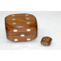 "Natural Dice Box, 2.5"" X 2.5"""