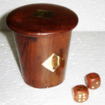 Natural Dice Box, 4 Inches