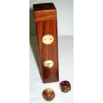 Brown Natural Dice Box, 5 Inches