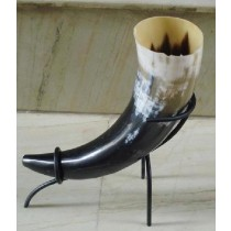 Natural Horn and Stand Iron Flower Vase