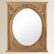 Natural Mango Wooden Curved Mirror Frame