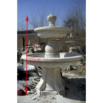 Natural Marble Two Tiered Curved Fountain