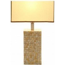Natural Mother Of Pearl Table Lamp 15.5 Inch