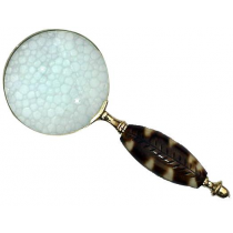 Natural Polish Magnifier With Leaf Design Handle, 4 Inches