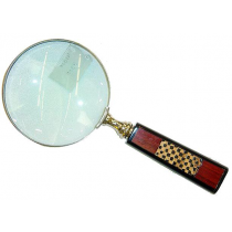 Natural Polish Magnifying Glass With Wooden Handle , 5 inches