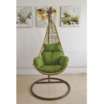 Natural Rattan Egg Shape Single Swing Chair