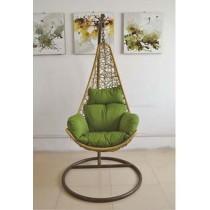Natural Rattan Egg Shape Single Swing Chair