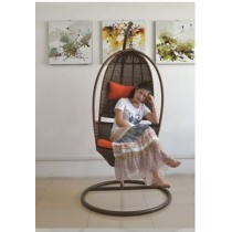 Natural Rattan Queen Single Swing Chair