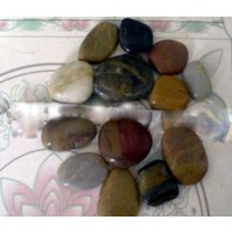 Natural River Pebble Stone five color,Size 8 to 12cm