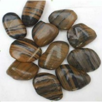 Natural River Pebble Stone Striped, 8 to 12 cm.