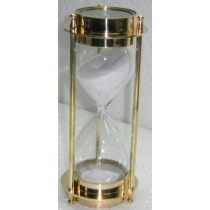 "Natural Sand Timer With Compass, 6.5"" X 3"""