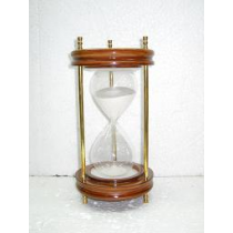 Nickel Plated Sand timer, 15 Inches