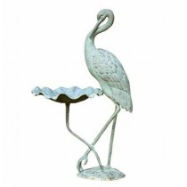 Natural Verdi Finish Aluminum Bird Bath