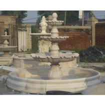 Natural White Marble Curved Pools Water Fountain