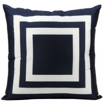 Navy 20 Inch Square Shape Polyester Cushion