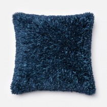 Navy Blue Handmade Polyester Square Cushion