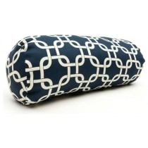 Navy Blue Links Round 8 Inch Cushion