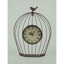 New Design Metal Wall Clock With Bird Cage