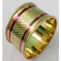 New Gold Crackle Napkin Ring