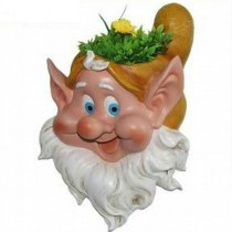 New Hanging Gnome Head Garden Planter