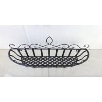 New Medium Black Top Basket