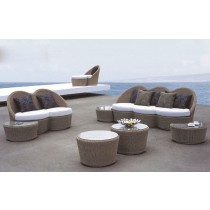 New Modern Designer PE Rattan Sofa Set