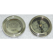 Nickel Finish Compass, 2.5 Inches