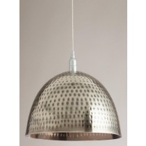 Nickel Finish Iron Pendant Lamp 14 Inch Dai
