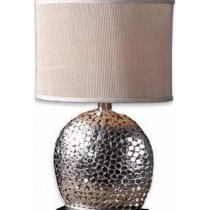 Nickel Plated Aluminum Table Lamp