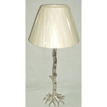Nickel Plated Aluminum Table Lamp 18 Inch