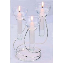 Nickel Plated Candle Holder