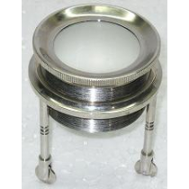 "Nickel Plated Rolling Magnify, 3"" X 3"""