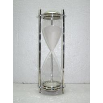 Nickel Plated Sandtimer, 15 Inches
