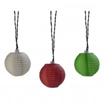 Nylon Oriental Solar LED String Lights