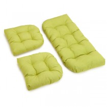 Olive Green Color 3 Piece U Shaped Cushion Set