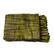 Olive Green Colored Throw