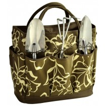 Olive Green Gardening Tote With Tool Set