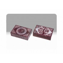 Om Red Boxed Incense Burner