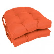 Orange 16 Inch U Shaped Cushion With Ties