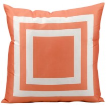 Orange 20 Inch Square Shape Polyester Cushion