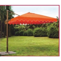 Orange Carved Pattern Garden Umbrella