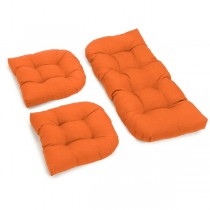 Orange Color 3 Piece U Shaped Cushion Set