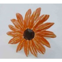 Orange color Flower Design Iron Napkin Ring
