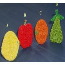 Orange Colored Glass Beads Napkin Ring