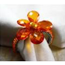 orange  colour flower napkin rings