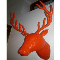 Orange Deer Head Wall Decoration