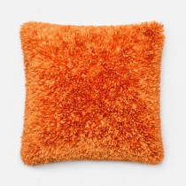 Orange Handmade Polyester Square Cushion