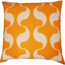 Orange Square Cushion