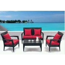 Outdoor Garden PE Rattan Corner Sofa Set