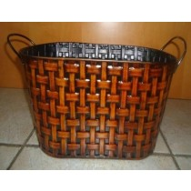 Metal Oval 15 Inch Flower Pot Planter
